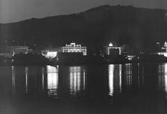 13; Wellington at night, from the harbour - Circa 1940 (Wellington City Council) Tags: wellington historicwellington 1800s 1900s 1950s