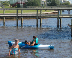 Gabby and Kayak (crisp4dogs) Tags: gabby pwd water portuguesewaterdog puppy crisp4dogs acrisp lizzy beth intercoastal waterway