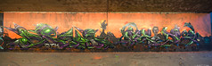 Meds & Peal, TBK / TGK (tombomb20) Tags: street streetart west art halloween wall underpass graffiti paint m1 zombie yorkshire bad tunnel spray full crew wakefield taste lettering graff gents meds wy btk krew 2014 gentlemens peal horbury tgk tombomb20 badtastekrew thegentlemensklub