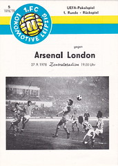 Lokomotive Leipzig vs Arsenal - 1978 - Cover Page (The Sky Strikers) Tags: cup football leipzig east german arsenal uefa lokomotive zentralstadion lokomotiv