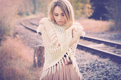 Silence Embrace (Zeit-Bild PhotoArt) Tags: november autumn light portrait woman sunlight art love girl beauty fashion canon hair model soft moments alone sad dress photoshoot natural emotion bokeh outdoor pastel dream makeup sensual silence blonde ro
