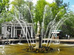 Adam's Fountain, Peterhof Palace (leonyaakov) Tags: travel flowers holiday fountain garden stpetersburg russia palace sunnyday peterhof    marculescueugendreamsoflightportal