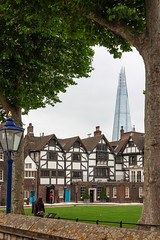 Framed Shard (Ruben Moreno Montoliu) Tags: new old city trees houses england house building green london tower architecture skyscraper europe unitedkingdom framed frame highrise shard toweroflondon theshard canoneos450d canonefs1855mmf3556is