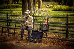 Soft, cozy sounds (JoLoLog) Tags: nyc music usa ny newyork centralpark raya saxophone lorien saxophoneplayer canon6d