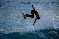 Board Jumper (kylelem62) Tags: sports water jump twilight fast shutter skimboard