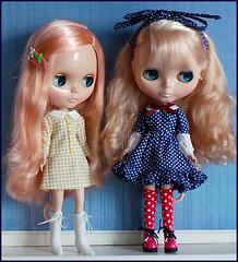 Shrimp and Dusty (pacific_rin) Tags: doll blythe sbl mademoisellerosebud silversnow