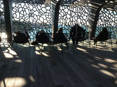 MuCEM / 3 (christing-O-) Tags: mer architecture marseille shadows musee repos mditerrane visiteurs mucem