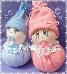 Lembrancinha Bebê (Nanne Baby Bonecas de Pano) Tags: fuxico bebê lembrancinha chaveiros