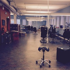 Deserted work space. Idean Helsinki is getting some new work stations!
