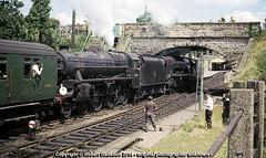 1966 - Pen Mill Double-Header.. (Robert Gadsdon) Tags: geotagged july 1966 steam sr westcountry withdrawn appledore lms scrapped doubleheader 31000 black5 lcgb 45493 yeovilpenmillstation greenarrowrailtour geo:lat=509435933980271 geo:lon=26143747613768937