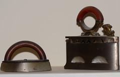 DSC_2184 miniature Mrs Potts iron and small charcoal iron (johnjennings995) Tags: iron laundry charcoal irons mrspotts charcoaliron