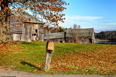 Rural Decay in America (Greg from Maine) Tags: november autumn leaves mailbox rural decay maine newengland oldbarn ruralamerica oldhomestead rustymailbox lateautumn oldshack dextermaine penobscotcounty