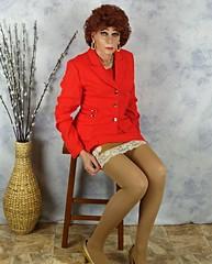 DSC03480 (msdaphnethos) Tags: orange stockings tomato tv pumps cd redhead tgirl suit transvestite heels hosiery slip transgendered crossdresser crossdress nylons halfslip vanraalte suitdress waistslip daphnethomas