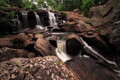 Chapman Falls (Digital Traveler) Tags: longexposure usa water canon eos waterfall rocks day unitedstates cloudy connecticut pools hdr easthaddam devilshopyardstatepark chapmanfalls 60d muddybrook