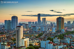 vl_03804 (Hanoi's Panorama & Skyline Gallery) Tags: street sunset sky panorama lake skyline architecture skyscraper canon asian asia capital skylines vietnam architect v hanoi asean appartment vitnam hni skyscrapercity caoc giangvolake keangnamlandmark hgingv