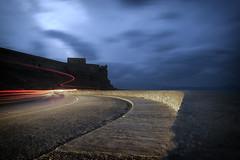 The turn (Theophilos) Tags: night turn crete lighttrails rethymno fortezza νύχτα κρήτη ρέθυμνο δρόμοσ στροφή φορτέτζα