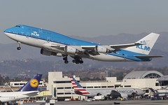 KLM - Royal Dutch Airlines Boeing 747-406M (Aviation and Travel photography) Tags: blue usa dutch proud off take spl lax klm schiphol ams 747 spotting jumbo klax phbfw 747406m