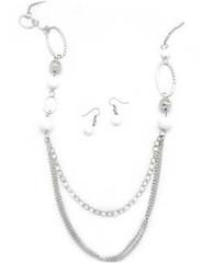 5th Avenue White Necklace P2620A-2