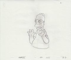 HOMER – THE SIMPSONS DRAWING (candoartist) Tags: simpsons animation homersimpson animationart productioncel productiondrawing