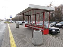 Old bus shelter in Warsaw (transport131) Tags: stop infrastructure carport przystanek infrastruktura wiata