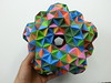 20 truncated octahedra(Dodecahedron) (hyunrang) Tags: origami dodecahedron hur truncated octahedron tetrahedral knotology paperstrip symmetrytoroid