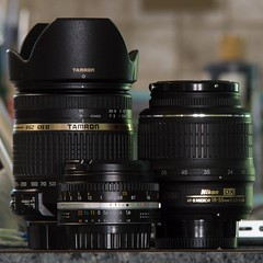 Here's my lens collection (Bailey the cool one) Tags: lens 50mm nikon collection ii 1855mm nikkor f18 dslr tamron f4 vr afs ais f3556 20cm nonai 18270 f3563 18270mm