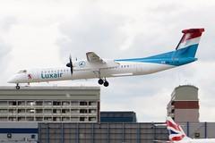 LX-LQA London CIty 23 May 2014 (ACW367) Tags: londoncity dash8 luxair dehavillandcanada dhc8q402 lxlqa