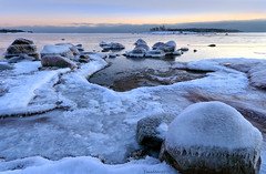 Ice by the sea (tinamar789) Tags: winter sea snow seascape cold ice finland landscape helsinki frost horizon freezing seashore