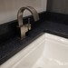CLOSE-UP of bathroom sink & faucet