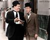 Laurel & Hardy (NoobieNikon) Tags: two white black color men colors photoshop funny colorized goofballs zak laurel hardy colorization slapstick kogut cs6