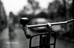 amsterain (l3v1k) Tags: blackandwhite white black holland blanco netherlands rain amsterdam bike lluvia agua y bokeh negro nederland gotas rainy raindrops bici holanda 500px ifttt