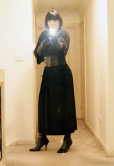 The Temptress (10) (Furre Ausse) Tags: black leather belt long power dress boots witch gloves powerful witchcraft maxi sorceress supernatural dominant temptress empower