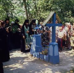 5. Служение панихиды на могиле прп. Иоанна Затворника 1995 г