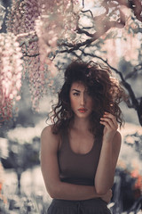 (akimuby) Tags: flowers portrait people sun nature floral girl beauty face vintage women faces bokeh outdoor sunny muted rubyjames