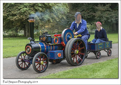 Princess Polly Traction Engine (Paul Simpson Photography) Tags: trees ride transport engine event passenger scunthorpe determination steamfair tractionengine steamtraction northlincolnshire normanbypark photoof princesspolly steamevent sonya77 paulsimpsonphotography september2014 potosof