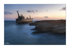 Edro III (JRTurnerPhotography) Tags: longexposure travel sunset sea vacation sun holiday seascape travelling tourism water clouds canon print landscape photography coast boat photo spring europe mediterranean ship photographer image dusk may picture culture cyprus eu wideangle tourist traveller greece shipwreck photograph mediterraneansea paphos pafos cargoship 2016 ndfilter landscapephotography ultrawideangle seacaves leefilters pegeia jaketurner seascapephotography canon5dmarkiii sixstop edroiii jrturnerphotography littlestopper leelittlestopper canon1635mmf4l