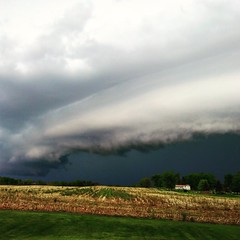 Nice shelf cloud ushering in this evenings cold front. (LaLa83) Tags: ohio sky cloud storm spring may cellphone lg coldfront thunderstorm 2015 fairfieldcounty shelfcloud lg3 stoutsville