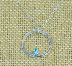 Sterling Silver Blue (alaridesign) Tags: blue by silver mom necklace mothers sterling february zircon birthstone alaridesign