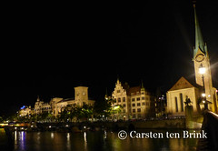 Night on the Limmat (10b travelling) Tags: schweiz switzerland europa europe suisse swiss zurich zrich zri limmat 2016 zurigo zueri tenbrink carstentenbrink iptcbasic 10btravelling