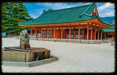 Santuario Heian (.MiguelPU) Tags: plaza japan kyoto place kioto japon jingu santuario heian heianjingu shaden