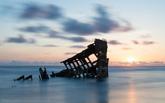 Wreck of the Peter Iredale (CMWilhelm) Tags: ocean sunset sea cloud beach metal oregon boat rust long exposure ship pacific fort dusk stevens ruin peter wreck iredale