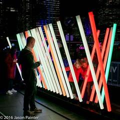 Spectrum (Jarrod Barrow) (Japester68) Tags: city light sculpture festival night harbor harbour outdoor sydney vivid australia event nsw rod column aus 3star