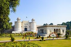 Lahore Fort and Hazuri Bagh (Garden). (Fahad Sultan Abbas) Tags: pakistan architecture fort bagh lahore masjid subcontinent mughal badshahi aurangzeb hazuri