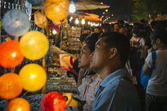 Date Night (tylerkingphotography) Tags: city travel man lady night thailand photography lights nikon couple southeastasia glow photographer market outdoor kingdom explore backpacking thai chiangmai 1855mm traveling amateur d3100