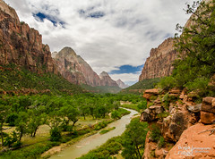 Zion Canyon View (bryanfisherphoto) Tags: park sun clouds river rocks view cliffs virgin national zion zionnp canyons
