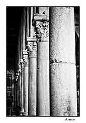 Ancient columns (Artico7) Tags: old blackandwhite bw art history church monochrome beautiful saint rock stone blackwhite high ancient fuji roman antique basilica mary columns dome round historical marble antico engraved biancoenero romans antiche capitals friuli colonne storico patriarca udine aquileia marmo assunta craftman capitelli xe1 santamariaassunta poppone craftmanchip