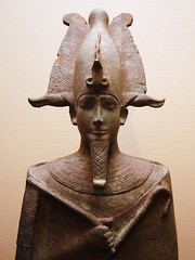 Ancient Egypt. Statue of Osiris, lord of the dead, 305-330 B.C., Louvre, Paris (mike catalonian) Tags: sculpture statue osiris ancientegypt lordofthedead 330bce ivcenturybce
