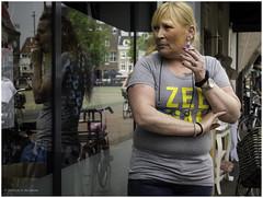 Smoke break (Luc V. de Zeeuw) Tags: blonde break smoke smoking window woman zeeman gouda zuidholland netherlands