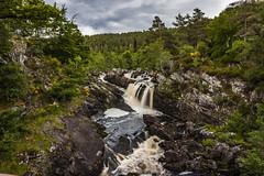 Rogie Falls View (Alex_Wyatt_Photos) Tags: uk black colour water landscape scotland waterfall highlands long exposure falls garve rogie