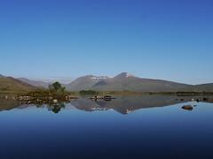 Rannoch Moor (pinkpebbleperson) Tags: reflection water dawn scotland spring argyll glencoe loch rannochmoor meallmor